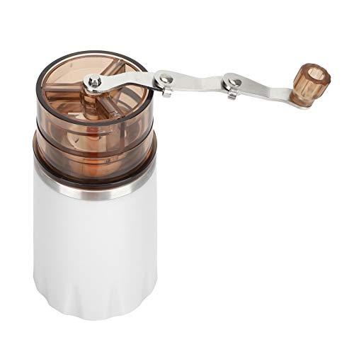 Asixxsix Molinillo de Granos Manual, Taza de molienda de café Duradera, Molino de Granos de café, Suministros de café para Oficina en casa, cafetería(White)