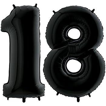 Folienballon Zahl XXL Riesenzahl 101cm Ballon Helium Luftballons Geburtstag Deko