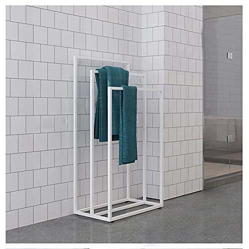 GJXJY Towel Holder Stand for Pool, 3 Bar Metal Towel Rack Stand with Sturdy Base, Rust-Resistant Drying Rack Airer for Bathroom Floor, Pool, Kitchen, Washroom