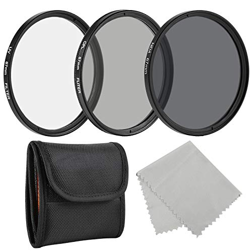 BELONGME Photo Professional Photography Filter Kit 67MM (UV, CPL Polarizer, Neutral Density ND4) for Camera Lens with 67MM Filter Thread + Filter Pouch