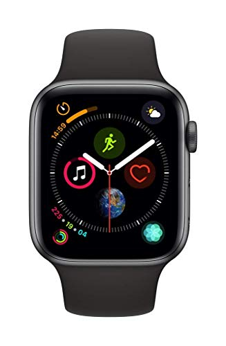Apple Watch Series 4 (GPS + Cellular, 40MM) - Space Black Aluminum Case with Black Sport Band (Renewed) 2