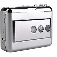 Docooler ezcap218B USB Cassette Captura Casete Convertidor de Cinta a MP3 en computadora Estéreo HiFi Calidad de Sonido Bass Audio Reproductor de música Salida AUX IN AUX