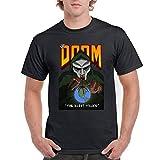 DAXIANIU Hombre Camiseta T-Shirts MF Doom The Illl Cotton Camiseta T-Shirts Black