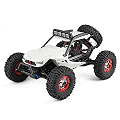 PERFECT EQUIPMENT: Rear suspension type straight bridge climbing vehicle with 4 wheel drive to ensure a stable and smooth driving, particularly when it is turning. All TERRAIN RC CAR: 40km/h high speed car. Has no problem going through the sand, gras...