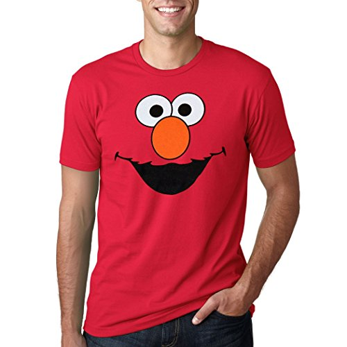 Elmo Face Adult T-Shirt (XX-Large) Red