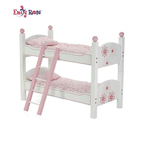 Emily Rose 18 Inch Doll Bunk Beds For American Girl Dolls 2 Single Stackable 18