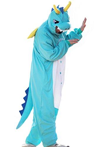 wotogold Homme animal dragon Pyjama Costumes Cosplay CORNU X-Large Bleu