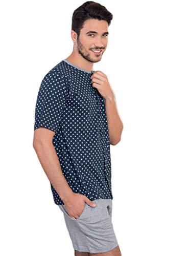 KLER - Pijama Abierto Hombre Hombre Color: Azul Talla: Large