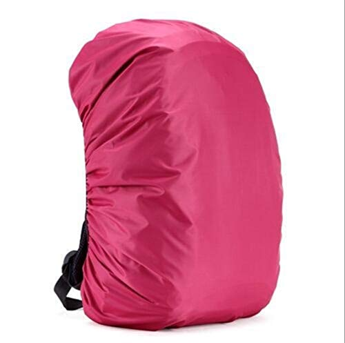 ARTFFEL Outdoor 35L 45L Adjustable Waterproof Backpack Cover Protective Rain Cover Portable Ultralight Shoulder Bag Raincover Hiking Dust Covers (Color : Rose Red)