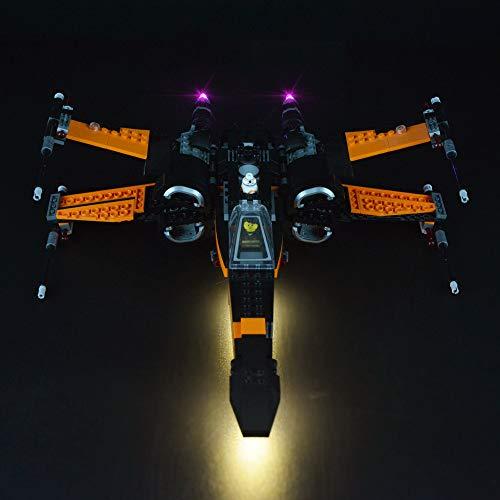 LODIY Beleuchtung Licht LED Beleuchtungsset für Lego 75102 Star Wars Poe's X-Wing Fighter (Nicht Enthalten Lego Modell)