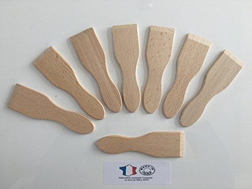 8 spatules à raclette en Bois de hêtre - Ecologique et Naturel - Artisanat Français 1 ER Choix : Lot de 8 spatules