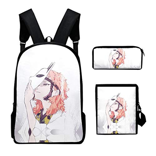 Electrical Shopping Gran Capacidad 3D Anime Ghost Blade Set Bag Hombres Y Mujeres Bolsas, Impermeable/Transpirable/Reducido, Sísmico, Hombres Y Mujeres Regalo Infantil, 40X30x13cm,C26