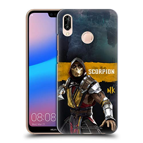 Official Mortal Kombat 11 Scorpion Characters Hard Back Case Compatible for Huawei P20 Lite