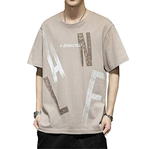 Camiseta De Manga Corta para Hombre, Ropa De AlgodóN De Tendencia De Verano, Camisa De Fondo Compasivo Juvenil De Media Manga