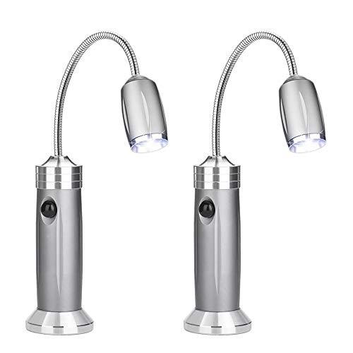 Grill Licht LED, Grilllampe Magnetisch Grill Licht Batteriebetrieben, 360 Grad Drehwinkel Grilllampe Grillbeleuchtung Hitzebeständig Wasserdicht BBQ Accessories für Grillen im Freien (2 Pack)