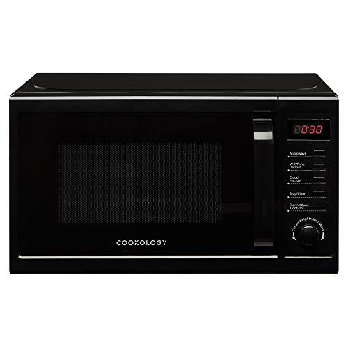 Cookology Digital Microwave, 800W Freestanding, 20 Litre Capacity, 25cm Turntable (Black)