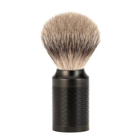 MÜHLE ROCCA Jet Black Stainless Courier shipping free shipping El Paso Mall B Steel Silvertip Badger Shaving
