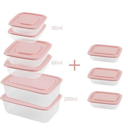 CHEN. Lebensmittel Lagerbehälter-Haushalt Preservation Kästen Kunststoffküchen Sealed Gläser Obst Lebensmittel, Lagerung Sets,Nine Piece