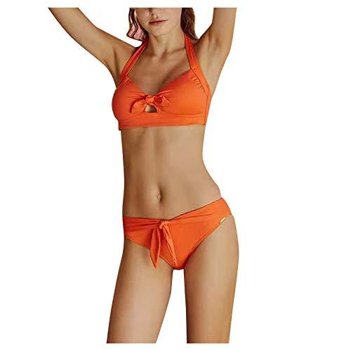 여자 비키니 패딩 컷 아웃 끈으로 고삐 수영복 두 조각 수영복