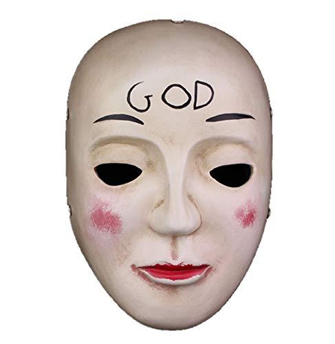 The Purge O Expurgo God Máscara Deus Resina Festa Cosplay Halloween para Adulto