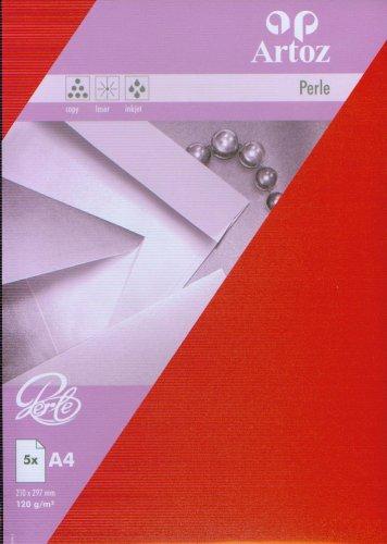 Artoz Papier AG - Perle Papier A4 (120g/m²) 5er-Pack rot