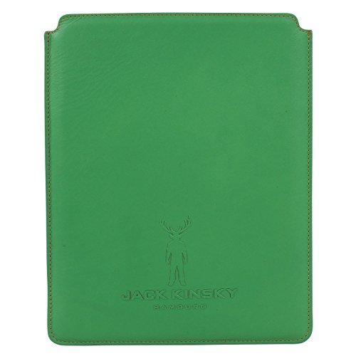 Jack Kinsky Leder Tablet Hülle 25,5 cm Grün