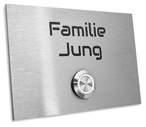 Jung Edelstahl Design Türklingel mit Gravur