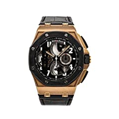 Pre-Owned Audemars Piguet Royal Oak Offshore Tourbillon Chronograph 26288OF.OO.D002CR.01 This watch is Certified Pre-Owned in New or Like New condition. Watch may show subtle scratches. The case should exhibit no dents or dings and the bracelet shoul...