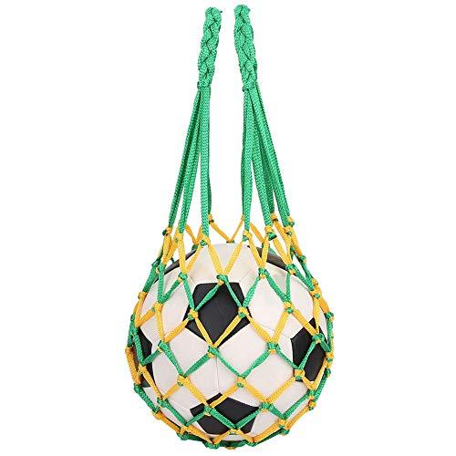 Wchiuoe Netztasche Ballnetz Sports Ball Tasche für Fußball Basketball Volleyball Bowling, Leicht & Handlich Mesh Netz Ballnetz Balltasche Multifunktional Net Tasche mit 2 Farben