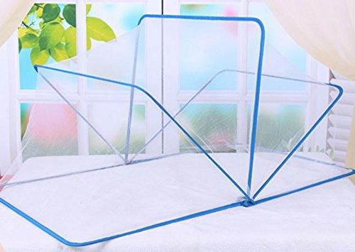 Tokkids Tokkids moskitonetz baby, Stahldrahtrahmen, 125 x 68 x 62 cm (blue)
