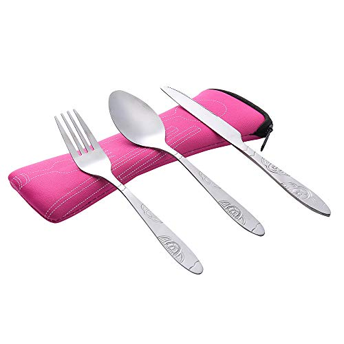 3Pcs Stainless Steel Fork Spoon Tableware Travel Camping Cutlery Dinnerware PK, Kitchen,Dining & Bar, Home & Garden (PK)