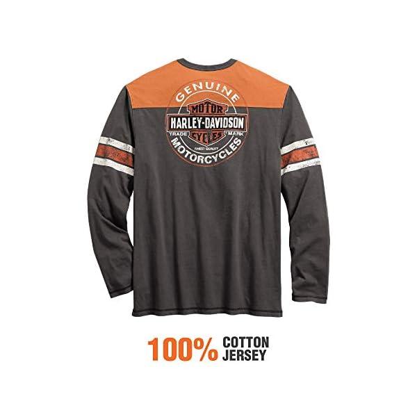 Harley-Davidson Men's Genuine Oil Can Henley, Asphalt