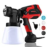 Paint Sprayer, 700 Watt High Power Home Electric Spray Gun, 4 Nozzle Sizes, Lightweight, Easy Spraying and Cleaning Perfect for Tables, Chairs, Fences, Interior Walls and Crafts
