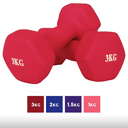 Goutime Neoprene Dumbbells Weights Yoga Gym Exercise Training for Men and Women