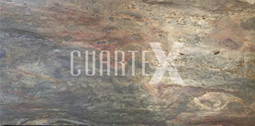 CUARTEX - Lastre/Pannelli di rivestimento in Pietra Naturale Sottile e Flessibile - Cherry Wood...