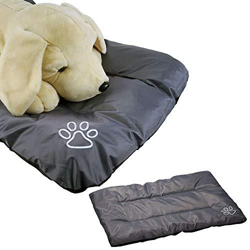 Cepewa Hundekissen XL 100 cm x 70 cm Hundebett aus stabilem 420D Nylon in grau waschbar und bequem