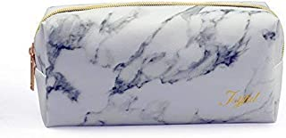 Marble Cosmetic Bag,Joyful Marble Makeup Toiletry Bag Pouch Organizer Case with Gold Zipper Marble Cute Pencil Bag Case for Women/Girls …