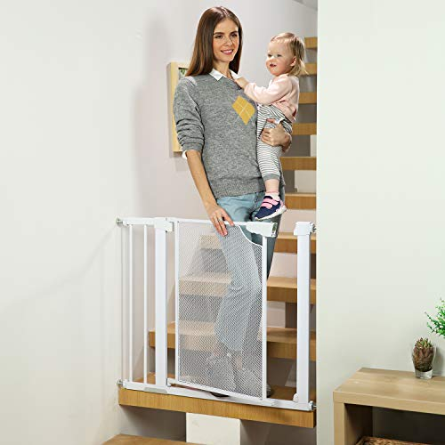 Heele Auto Close Safety Baby Gate, 29.5'-35' Easy...