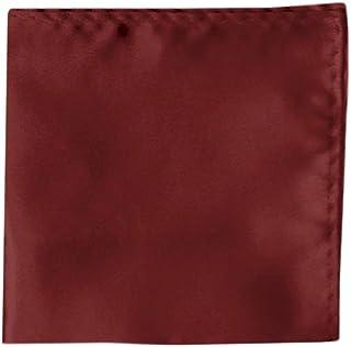 bord/ò rosso borgogna Uni costola bene monocromatico panno poliestere TigerTie fazzoletto