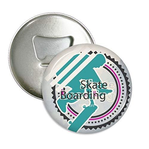 Sport Snowboarden Atleten Illustratie Ronde Flesopener Koelkast Magneet Pins Badge Button Gift 3 stks