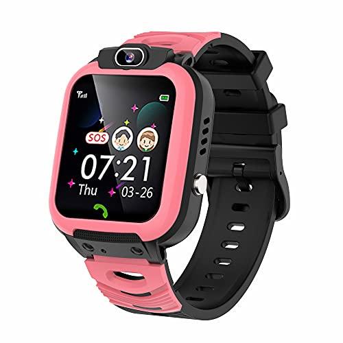 Smartwatch Bambini, 14 Giochi Video Orologio Intelligente Bambini, Telefono SOS Kids Smart Watch Lettore Musicale Fotocamera Sveglia Torcia Touchscreen Regali per Ragazze Ragazzi 3-12 anni