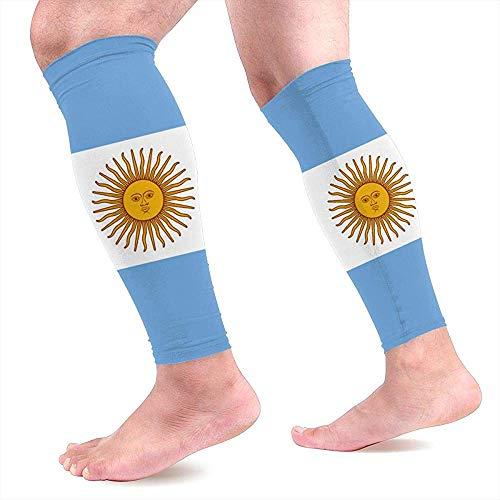 Argentijnse vlag kalf compressie mouwen Unisex lange compressie been mouwen voor hardlopen lopen & atletische 1 paar