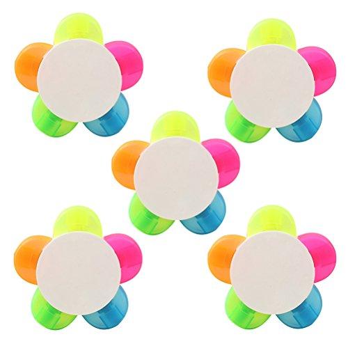 10pcs Rotulador fluorescente Subrayadores Pétalos