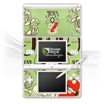 DeinDesign Skin kompatibel mit Nintendo DS Lite Aufkleber Sticker Folie Jesus Skateboard Lustig