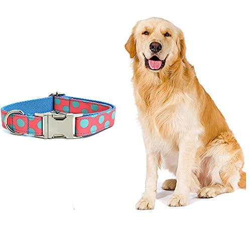NIUBICLAS Collar para perro cómodo con hebilla de lazo para cachorro, suave y ajustable, para perros pequeños, medianos y grandes