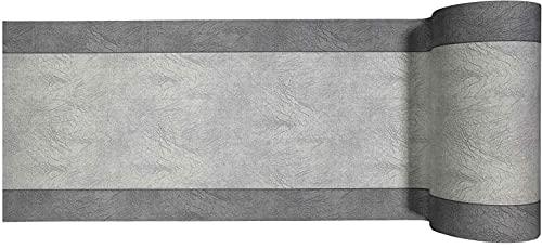 Tappeto Cucina Antiscivolo Lavabile in Vinile | Made in Italy | Passatoia Antimacchia in PVC/COTONE Interni | Stampa Digitale Screziato Bicolore (GRIGIO, 52 X 150)