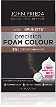 John Frieda Precision Foam Colour, Deep Brown Black 3N, Full-coverage Hair Color Kit, with Thick Foam for Deep Color Saturation