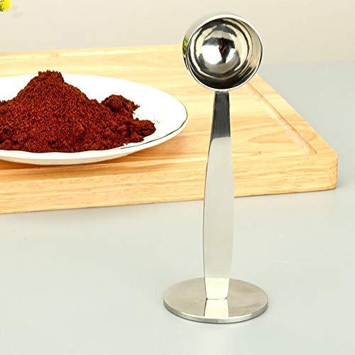 Espressodrücker+Kaffeemaß, Messen und Stampfen des Kaffeelöffels