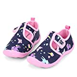 nerteo Water Shoes Girls Kids Walking Sneakers Sandals for Beach/Camp/Pool Swim Navy/Pink/Unicorn US 8 Toddler