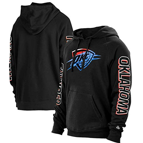 SHENXIAOMING NBA 2021 New Orleans Pelicans Oklahoma City Thunder Sweat Hood Sudadera con Capucha para Hombre, Camisetas De Baloncesto, Camisetas Casuales, Lavables A Máquina,Negro,XXXL